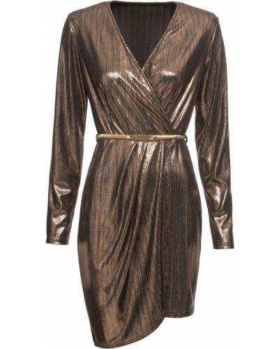 Платье мини с запахом коктейльное Bonprix