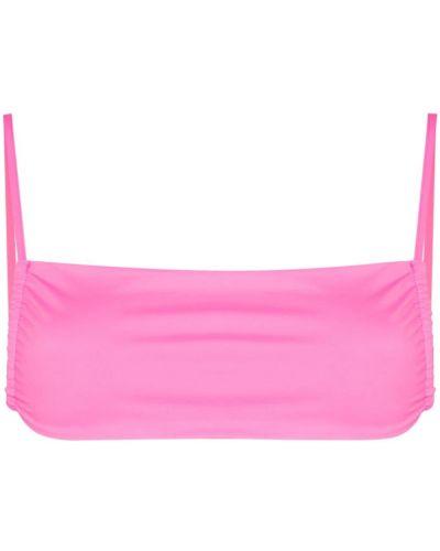 Пляжный розовый лиф на бретелях Frankie's Bikinis