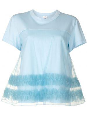 Хлопковая футболка - синяя Comme Des Garçons Noir Kei Ninomiya