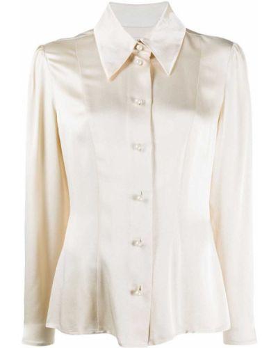 Прямая рубашка с воротником на пуговицах из вискозы Alexa Chung