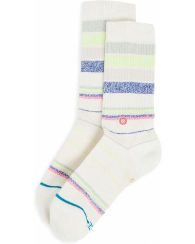Хлопковые белые носки в полоску Stance