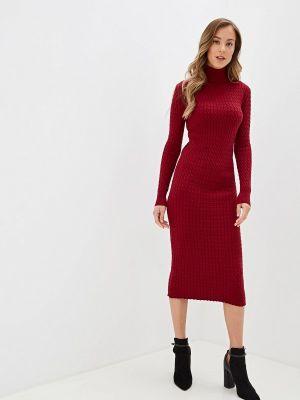 Платье бордовый вязаное Self Made