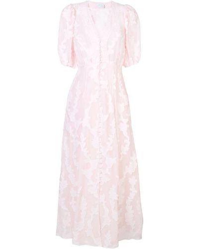 Платье мини розовое макси Tanya Taylor