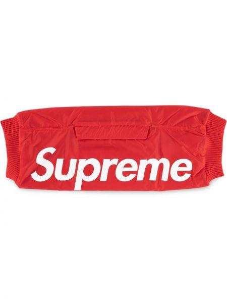 Перчатки с принтом - красные Supreme