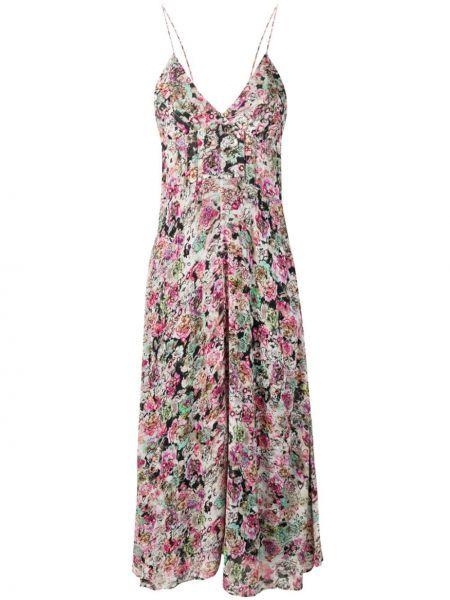 Платье миди розовое с декольте Iro