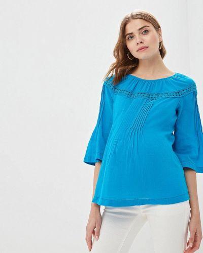 Блузка с длинным рукавом синяя Budumamoy
