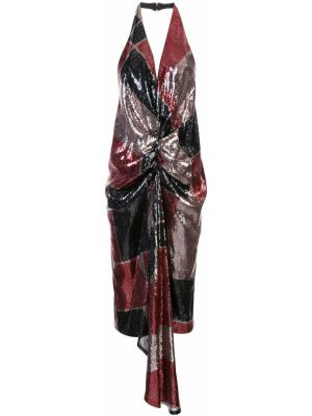 Платье миди с открытой спиной с пайетками Halpern