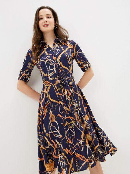 Платье прямое синее Lusio