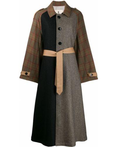 Длинное пальто без воротника на кнопках Barena