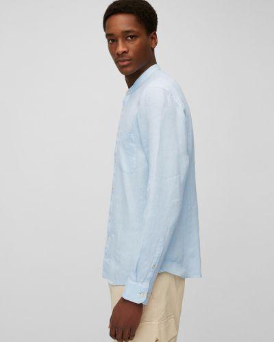 Льняная рубашка с длинными рукавами с воротником Marc O'polo