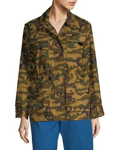 Ватная зеленая длинная куртка с воротником Sea
