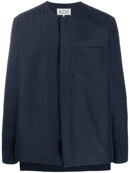 Koszula z długim rękawem długa ciemnoniebieski Maison Margiela