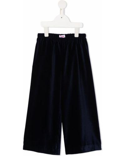 Свободные синие брюки с поясом Il Gufo