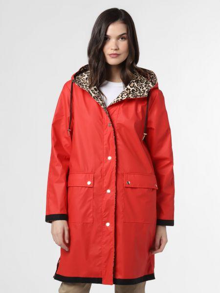 Czerwony płaszcz z printem Rino & Pelle