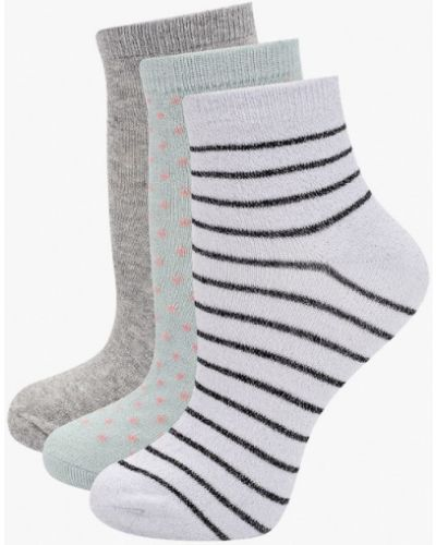 Разноцветные носки - белые Ichi
