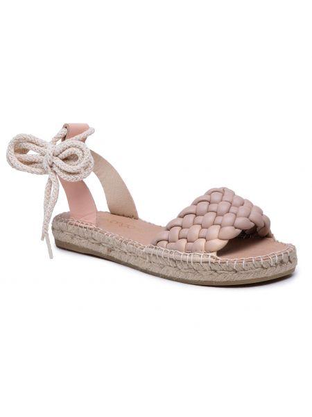Sandały espadryle - różowe Eva Longoria
