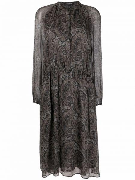 Шелковое платье макси - черное Luisa Cerano