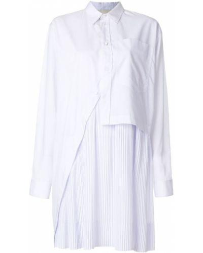 Белая рубашка плиссированная Cédric Charlier