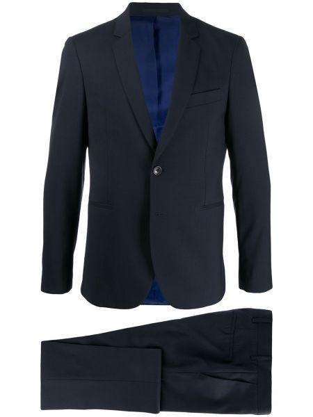 Шерстяной прямой костюмный костюм деловой на пуговицах Ps Paul Smith