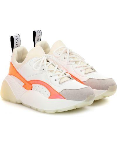 Кожаные кроссовки замшевые белый Stella Mccartney