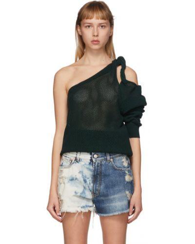 Wełniany z paskiem top z długimi rękawami z mankietami Givenchy