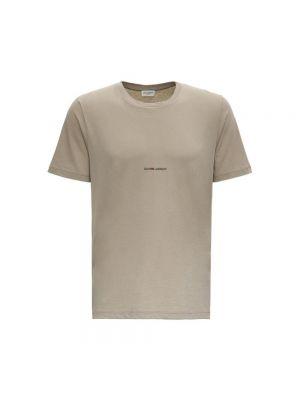 T-shirt bawełniana - biała Saint Laurent