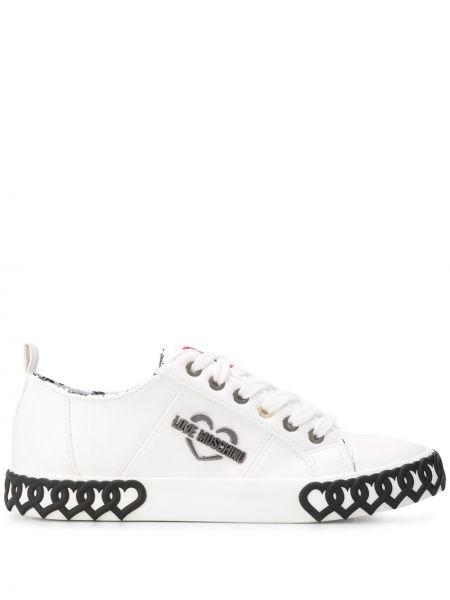 Sneakersy z logo białe Love Moschino