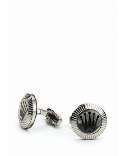 Запонки из серебра серебряного цвета Art-silver