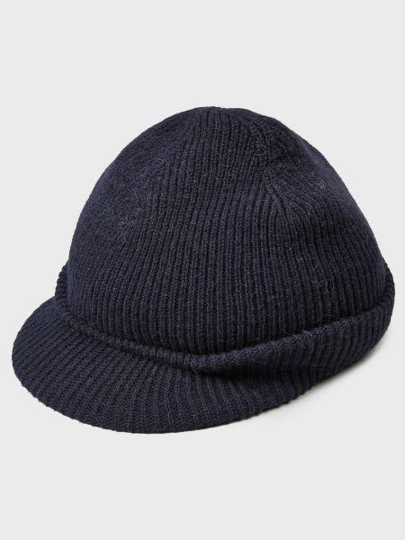 Синяя шерстяная шапка Inverni