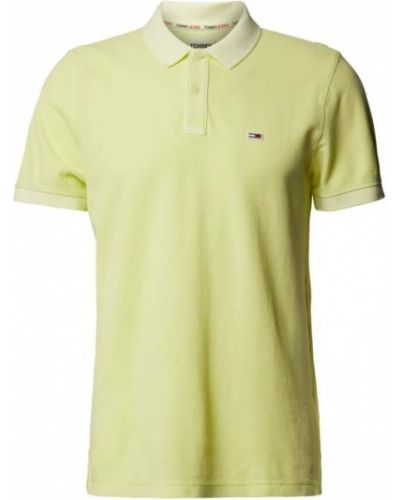 Żółty t-shirt bawełniany Tommy Jeans