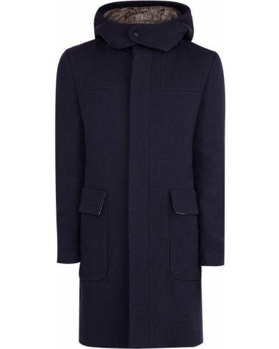 Пальто с капюшоном итальянское шерстяное Etro