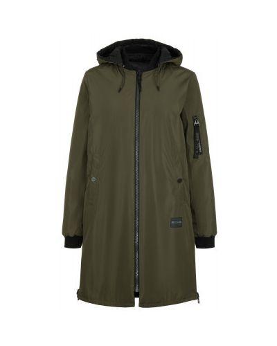 Зеленая свободная утепленная куртка двусторонняя свободного кроя Termit