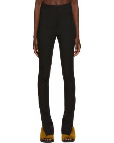 Lniane lniane spodnie - czarne Jacquemus