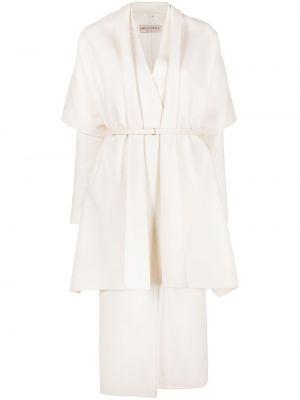 Белое шерстяное пальто Emilio Pucci