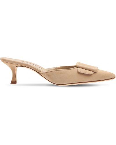 Кожаные туфли Manolo Blahnik