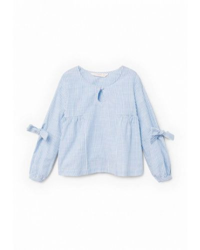 Голубая рубашка Mango Kids