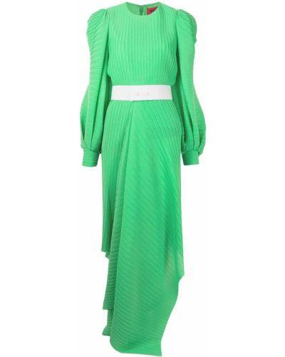 Зеленое платье макси с поясом с вырезом Solace London