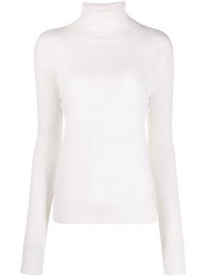 Кашемировый белый длинный свитер с высоким воротником Emilio Pucci