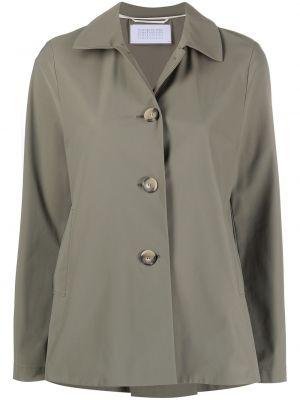 Зеленая куртка с воротником на пуговицах Harris Wharf London