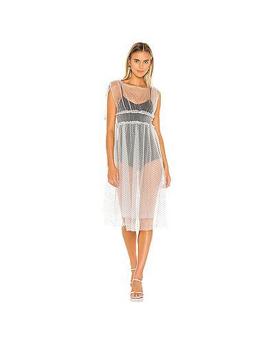Платье миди на пуговицах со складками Majorelle
