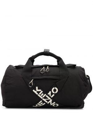 Czarny sport plecak skórzany z printem Kenzo