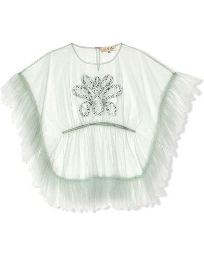 Zielony sweter krótki rękaw Tutu Du Monde