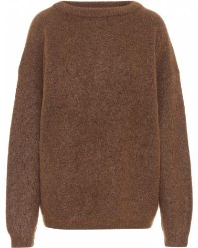 Коричневый свитер оверсайз из мохера Acne Studios