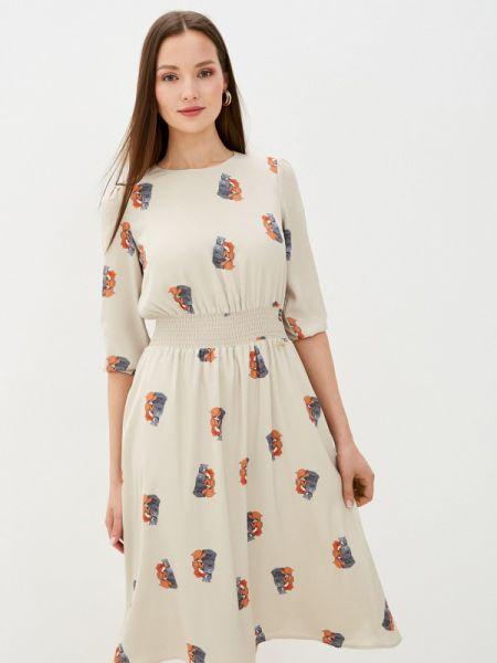 Платье прямое бежевое Akhmadullina Dreams