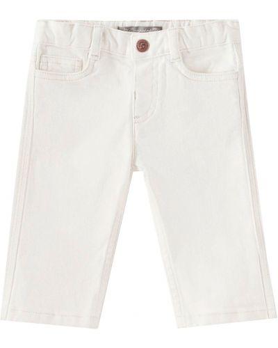Белые хлопковые брюки Bonpoint