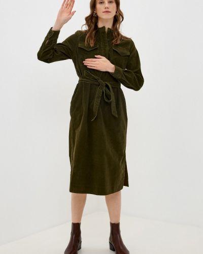 Прямое зеленое платье Gap