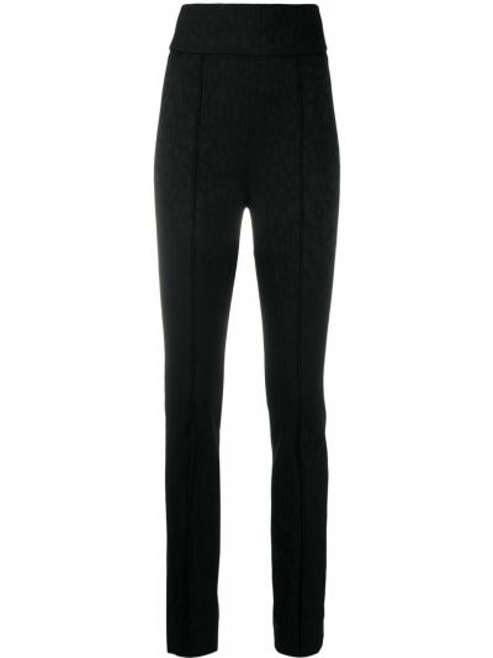 Шерстяные черные брюки стрейч скинни Roberto Cavalli