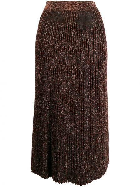 Плиссированная юбка с завышенной талией пачка Michael Kors Collection