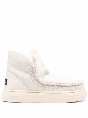 Белые резиновые ботинки Mou