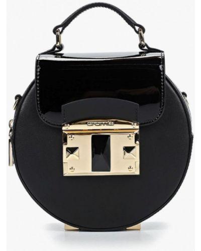 Кожаный сумка через плечо черный Cromia